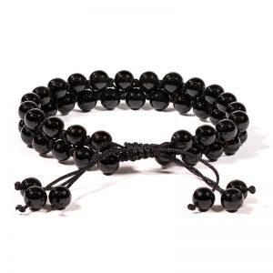 Dubbele Armband Zwarte Agaat