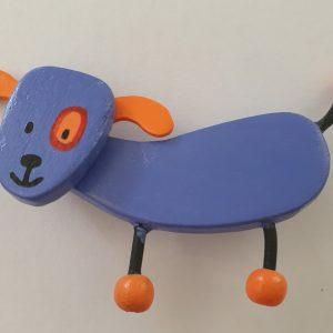 Houten Kinderbroche Hond